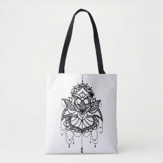 Lotus to flower tote bag