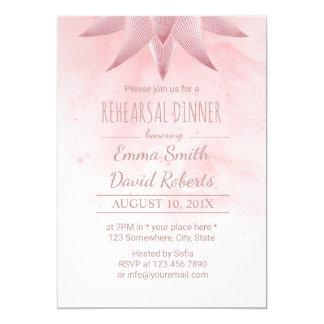 Lotus Watercolor Wedding Rehearsal Dinner Card