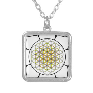 Lotus White2 Personalized Necklace