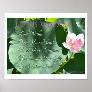"""Lotus Wisdom"" Poster, 10"" x 8"" Poster"