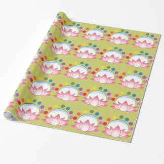 Lotus with chakra wrapping paper