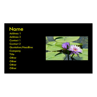 Lotus With Dragonfly Double-Sided Standard Business Cards (Pack Of 100)