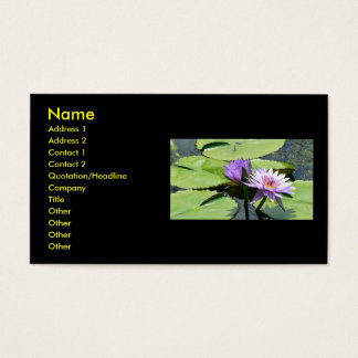 Lotus With Dragonfly Business Card