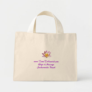lotus, www.TimeToUnwind.comYoga & MassageJackso... Mini Tote Bag