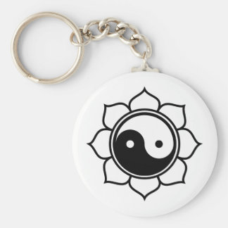 Lotus Yin Yang Key Ring