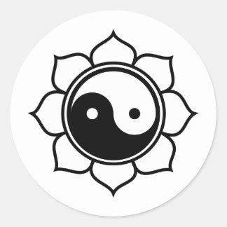 Lotus Yin Yang Stickers