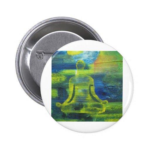 Lotus Yoga Pose Original Health Exercise Modern 6 Cm Round Badge