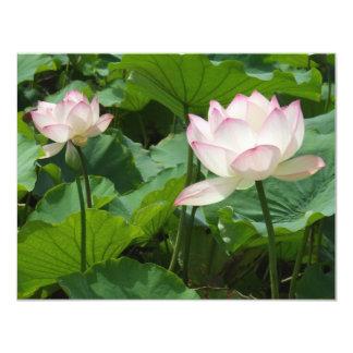 Lotuses 11 Cm X 14 Cm Invitation Card