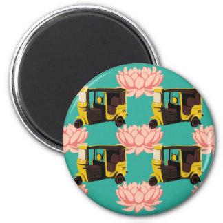 Lotuses and Rickshaws Magnet