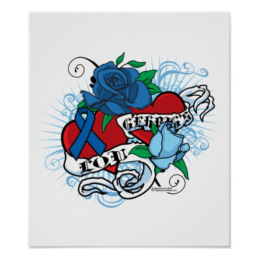 Lou Gehrigs Twin Hearts Tattoo Print