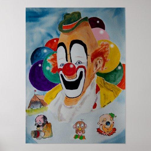 Lou Jacob Clown Print Poster
