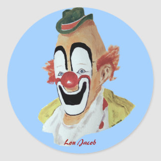 Lou Jacob Clown Sticker