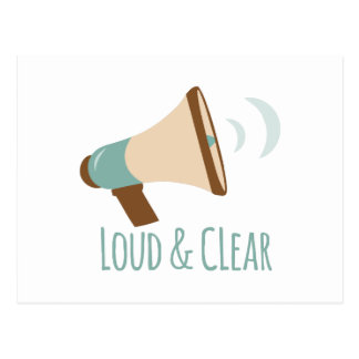 Loud & Clear Postcard