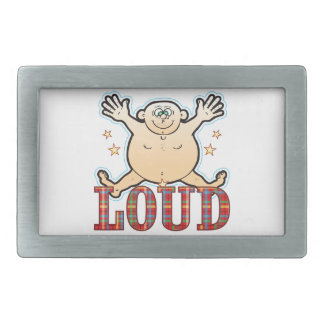 Loud Fat Man Rectangular Belt Buckles