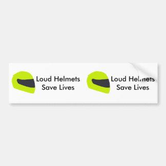 Loud Helmets Save Lives X 2 Bumper Sticker
