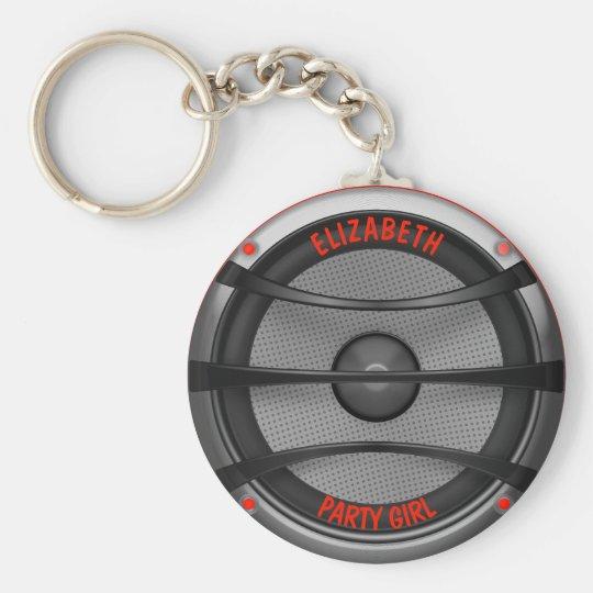 Loud Music Speaker Dancing Party Key Ring