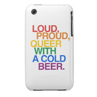 LOUD PROUD QUEER WITH A BEE iPhone 3 CASE