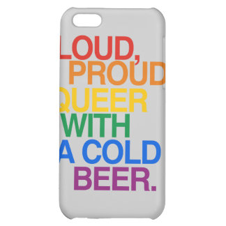 LOUD PROUD QUEER WITH A BEE iPhone 5C CASES