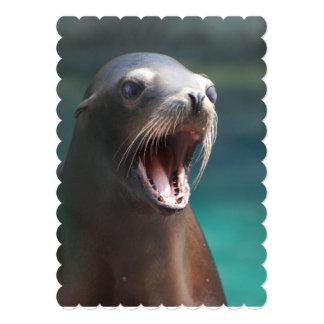 Loud Sea Lion 5x7 Paper Invitation Card