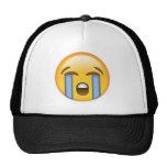 Loudly Crying Face Emoji Cap