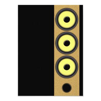 Loudspeaker System 13 Cm X 18 Cm Invitation Card