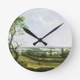 Lough Erne from Knock Ninney, with Bellisle in the Wall Clocks