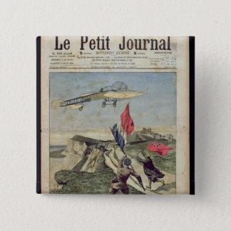 Louis Bleriot  landing at Dover 15 Cm Square Badge