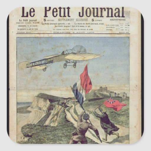 Louis Bleriot  landing at Dover Square Stickers