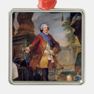 Louis  Dauphin of France Silver-Colored Square Decoration