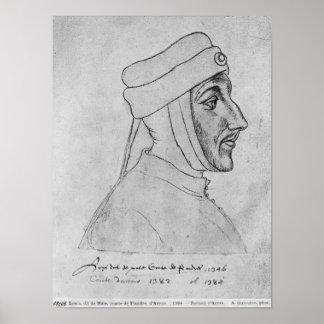 Louis II of Flanders Poster