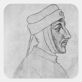 Louis II of Flanders Square Sticker