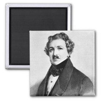 Louis Jacques Mande Daguerre Square Magnet