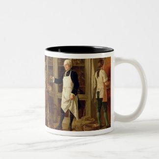 Louis Jean Marie Daubenton (1716-99) in his Labora Two-Tone Coffee Mug