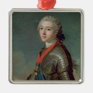 Louis Jean Marie de Bourbon Silver-Colored Square Decoration