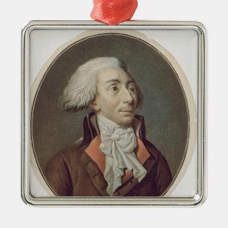 Louis-Michel Le Peletier de Saint-Fargeau  1792 Silver-Colored Square Decoration