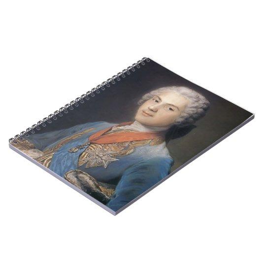 Louis of France by Maurice Quentin de La Tour Notebook