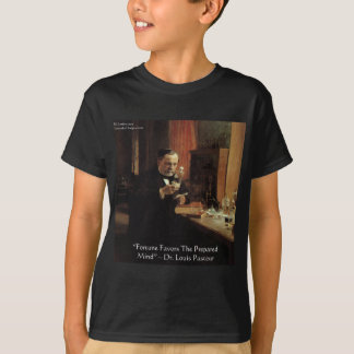 "Louis Pasteur ""Fortune"" Quote Gifts & Tees"