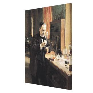 Louis Pasteur  in his Laboratory, 1885 Canvas Print