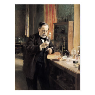 Louis Pasteur  in his Laboratory, 1885 Postcard