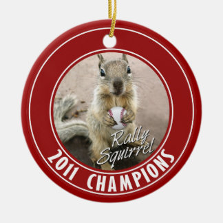Louis Rally Squirrel 2011 Winners Christmas Ornament