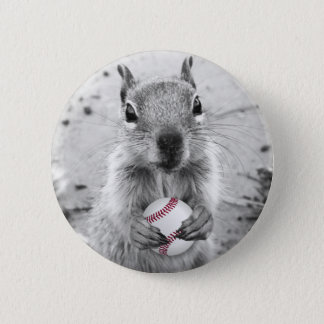 Louis Rally Squirrel - baseball 6 Cm Round Badge