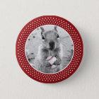 Louis Rally Squirrel - baseball 6 Cm Round Badge