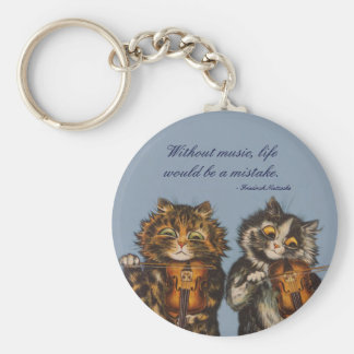 Louis Wain - A Gift for Cat Lovers Basic Round Button Key Ring