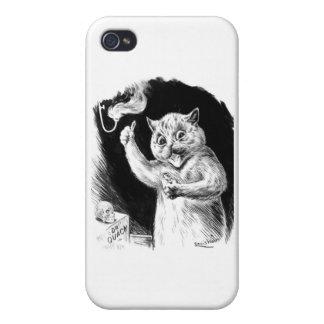 Louis Wain Cat Artwork Dr. Quack Case For iPhone 4