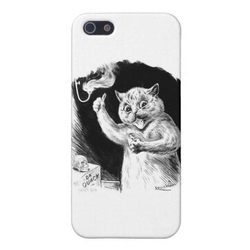 Louis Wain Cat Artwork Dr. Quack iPhone 5 Cases