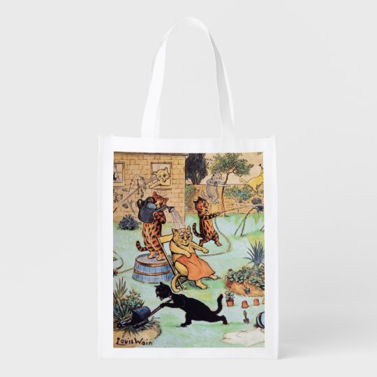 Louis Wain - Cat Gardener's Reusable Grocery Bag