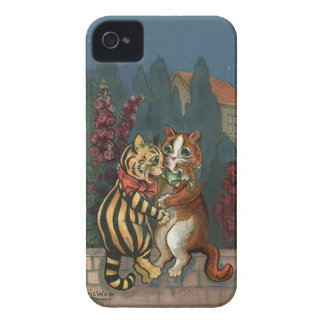 Louis Wain - Cute Cats in Love iphone4 case
