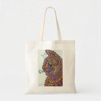 Louis Wain Fantasy Wallpaper Tote Bag