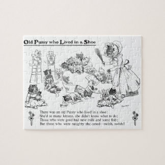Louis Wain Old Cat in Shoe Nursery Rhyme Puzzles
