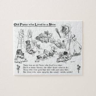 Louis Wain Old Cat in Shoe Nursery Rhyme Puzzles